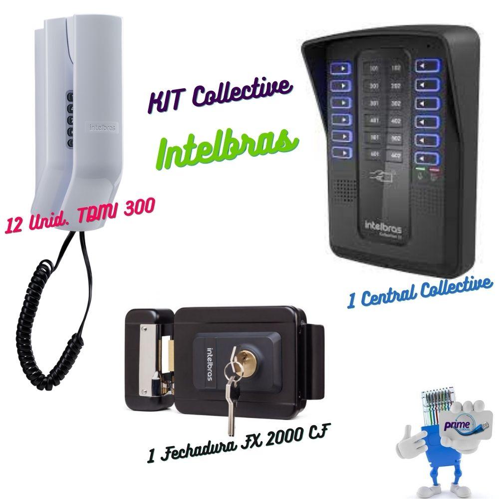 Kit Central Coletiva com Terminal Dedicado e Fechadura Colletctive 12 Intelbras