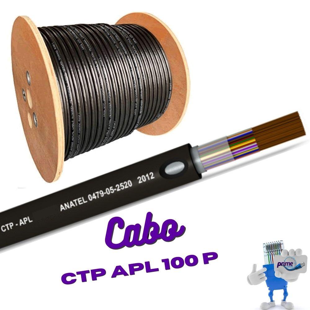 Cabo Telefônico Externo Blindado CTP APL 100 Pares 50X100
