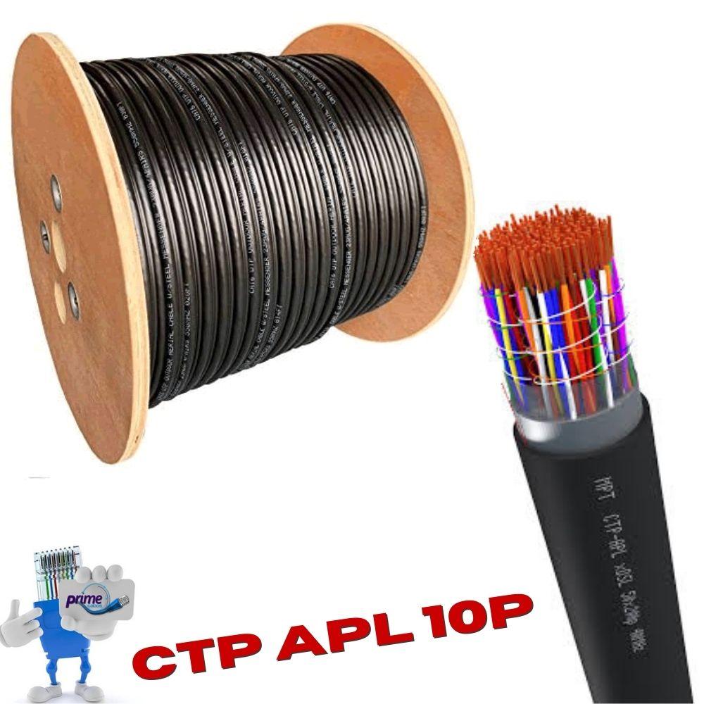 Cabo Telefônico Externo Blindado CTP APL 10 Pares 50X10