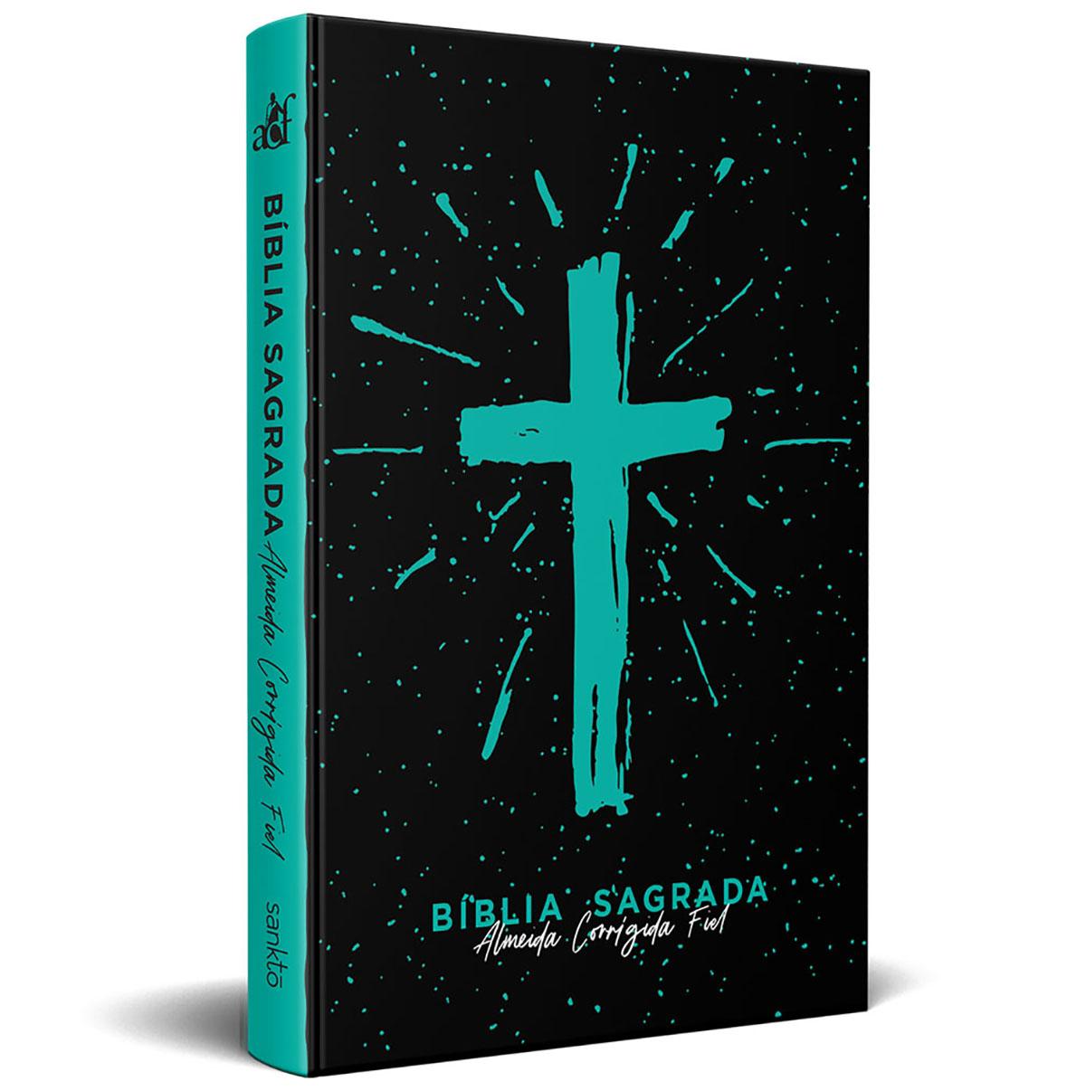 Bíblia ACF Slim 760 Cruz Tiffany - 7908249102529