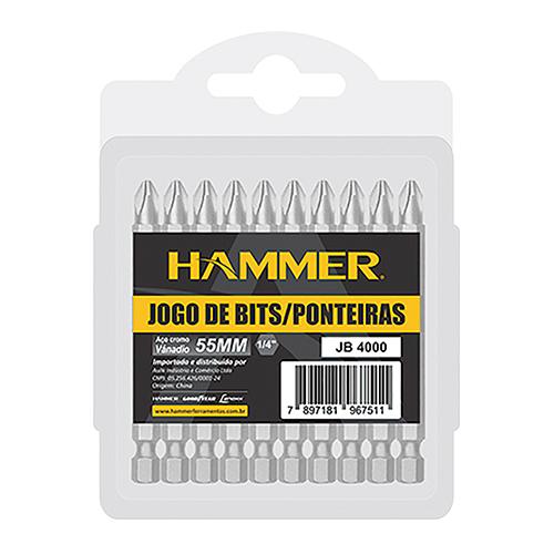 Jogo Bits Ponteira Hammer Philips 10Pc JB4000